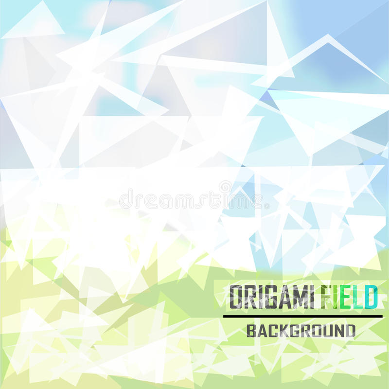 Green Field Background Vector Stock Image