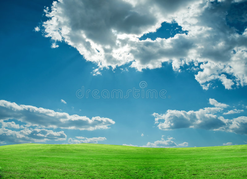 Download Green Field And Blue Sky Stock Photos - Image: 8738303
