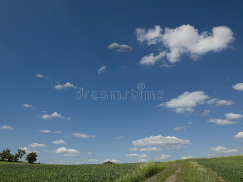 Beautiful Landscape On Mountain With Nice Sky Stock Photo
