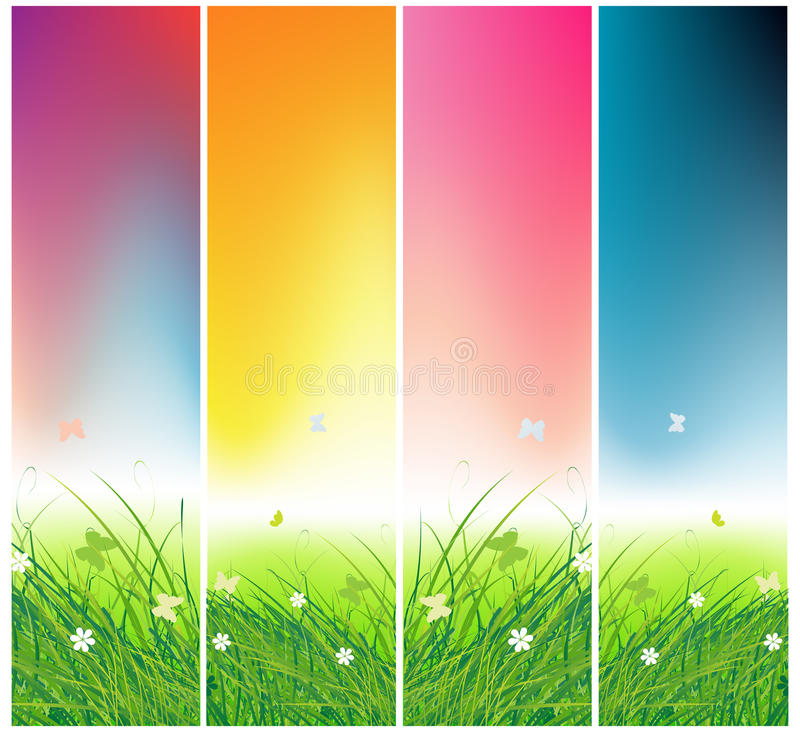 Download Green Field With Butterflies, Times Of Day Stock Photos - Image: 15259683