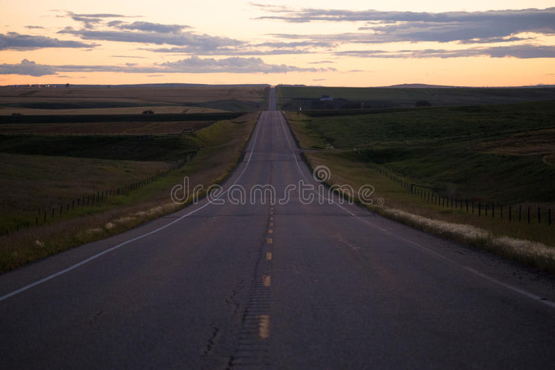 Green Field Between Empty Road Golden Hour Photo Free Public Domain Cc0 Image