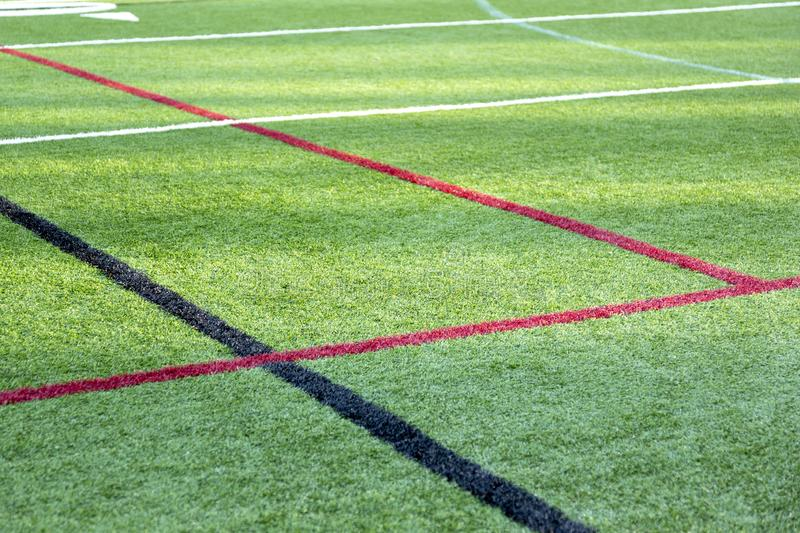 Sports Field with boundary lines royalty free stock photography