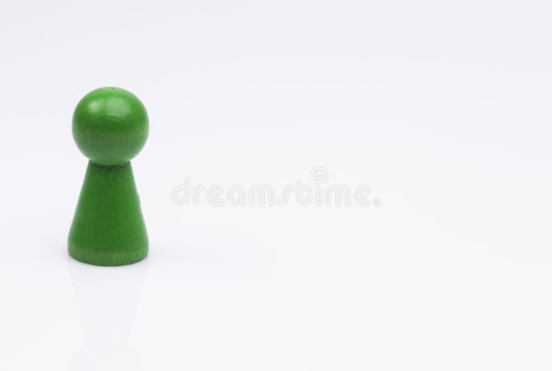 Green Figure on white stock photos