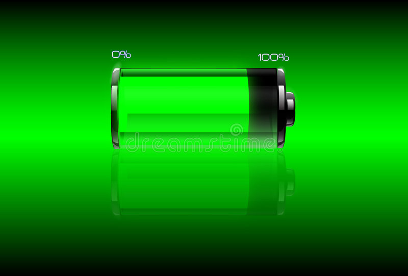 Download Green filled battery stock vector. Illustration of exciting - 8004454