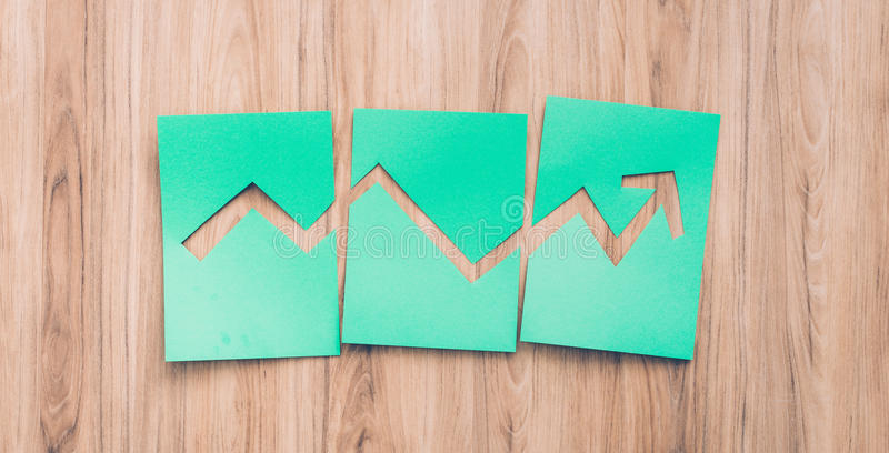 Green financial graph royalty free stock photography