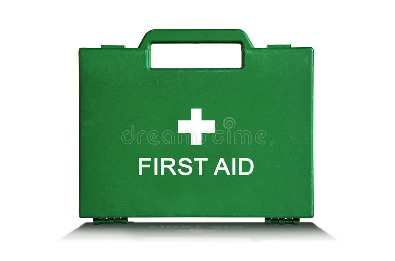 Download Green First Aid Box stock image. Image of lock, accident - 12724861