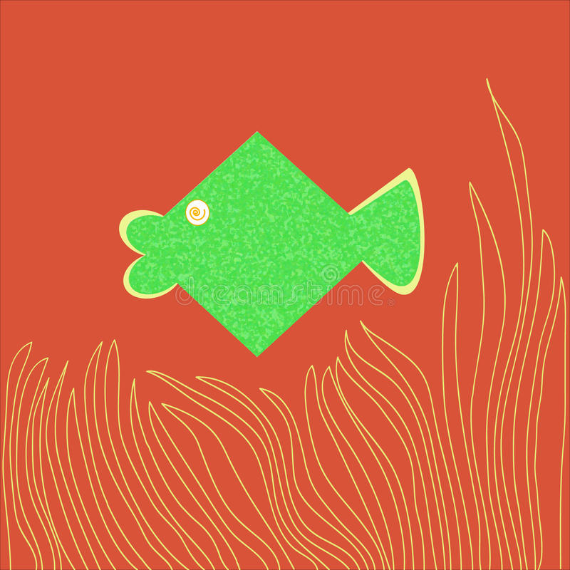 Green Fish-Cartoon