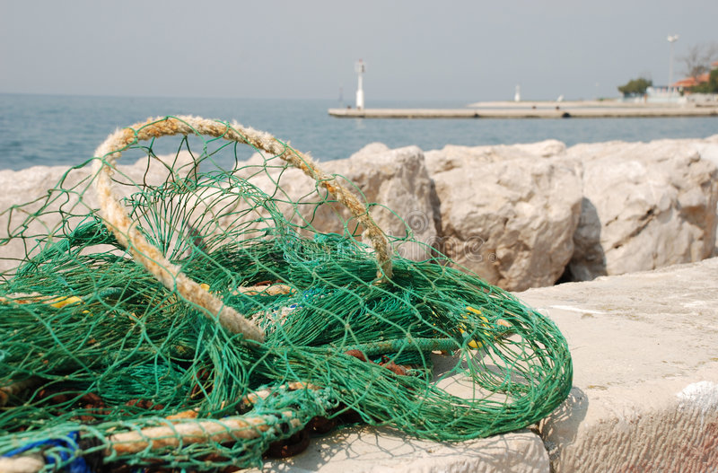 Green Fishing Net stock photo