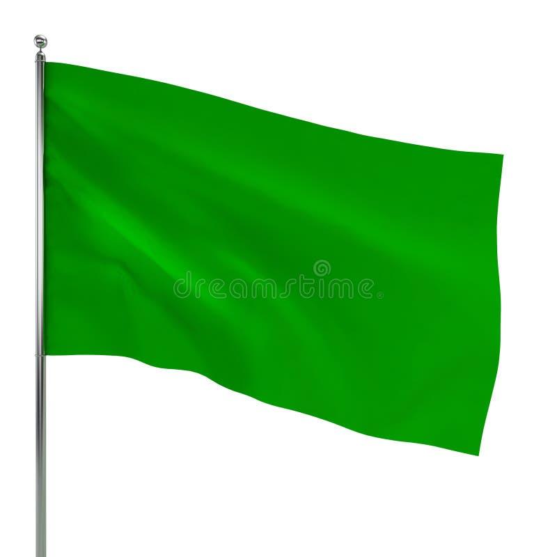 Green flag vector illustration