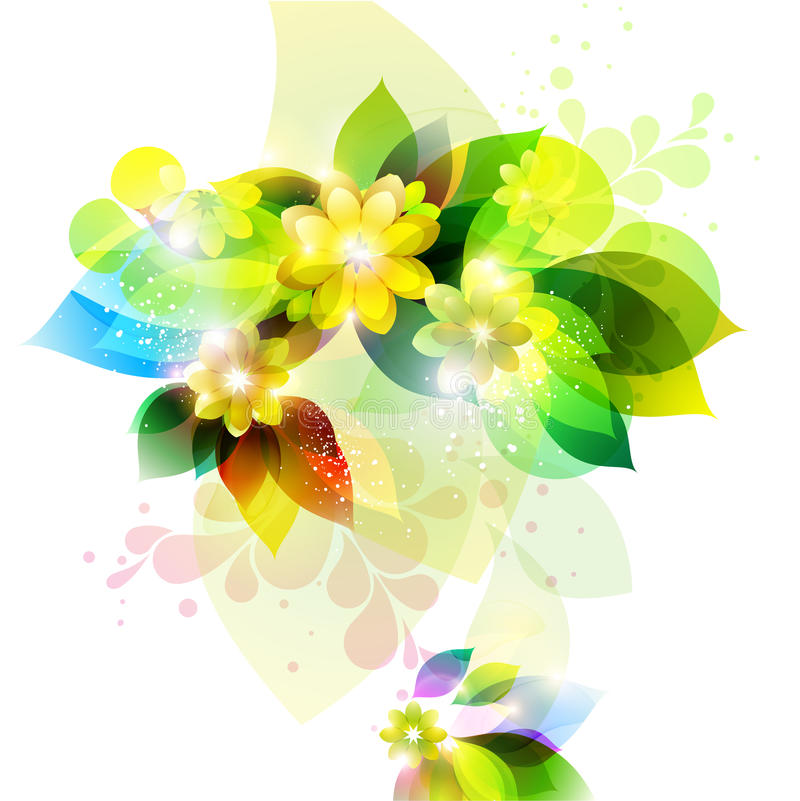 Green floral background. vector illustration