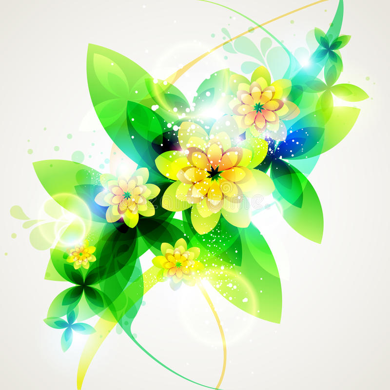 Green floral background. royalty free illustration