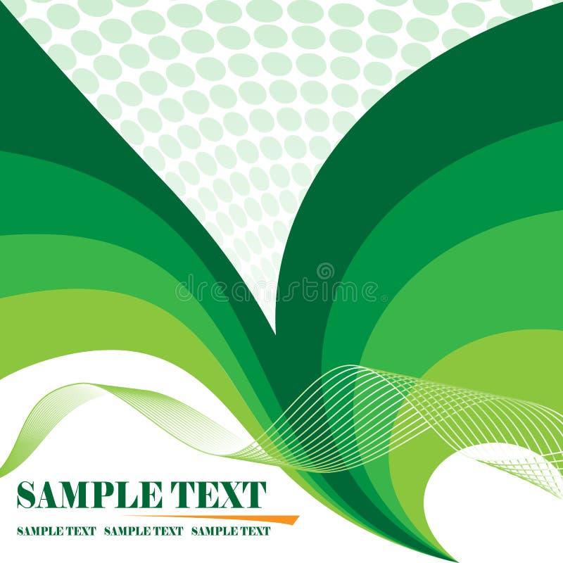 Green floral background vector illustration
