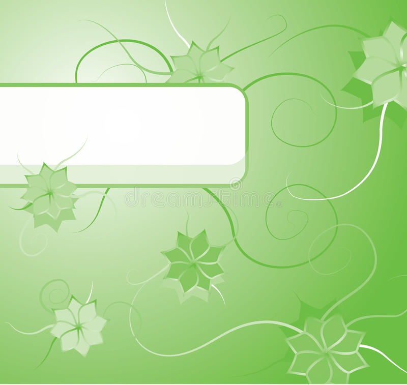 Download Green Floral Background With Blank Label Stock Vector - Image: 16241471