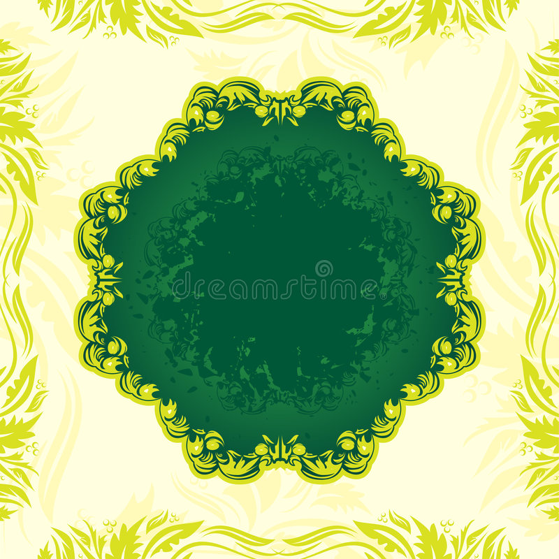 Download Green Floral Banner Stock Photos - Image: 7345293