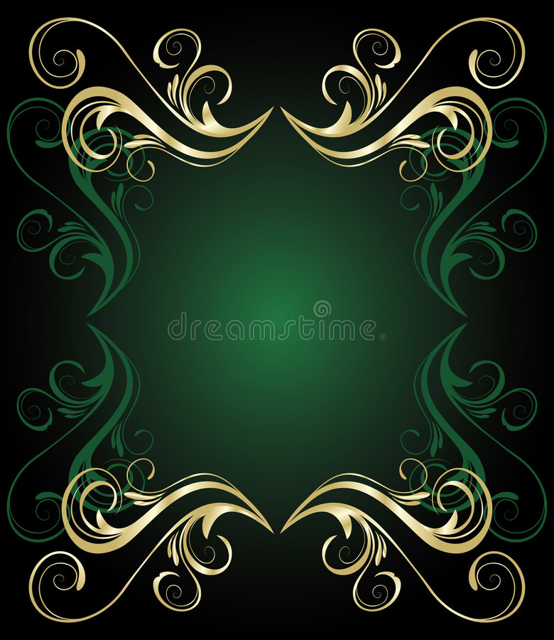 Free Green Floral Banner Royalty Free Stock Photography - 8458767