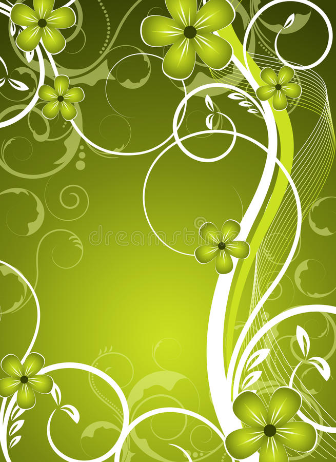 Download Green  Floral Design Royalty Free Stock Image - Image: 24041506