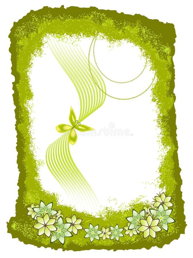 Green Floral Frame stock images