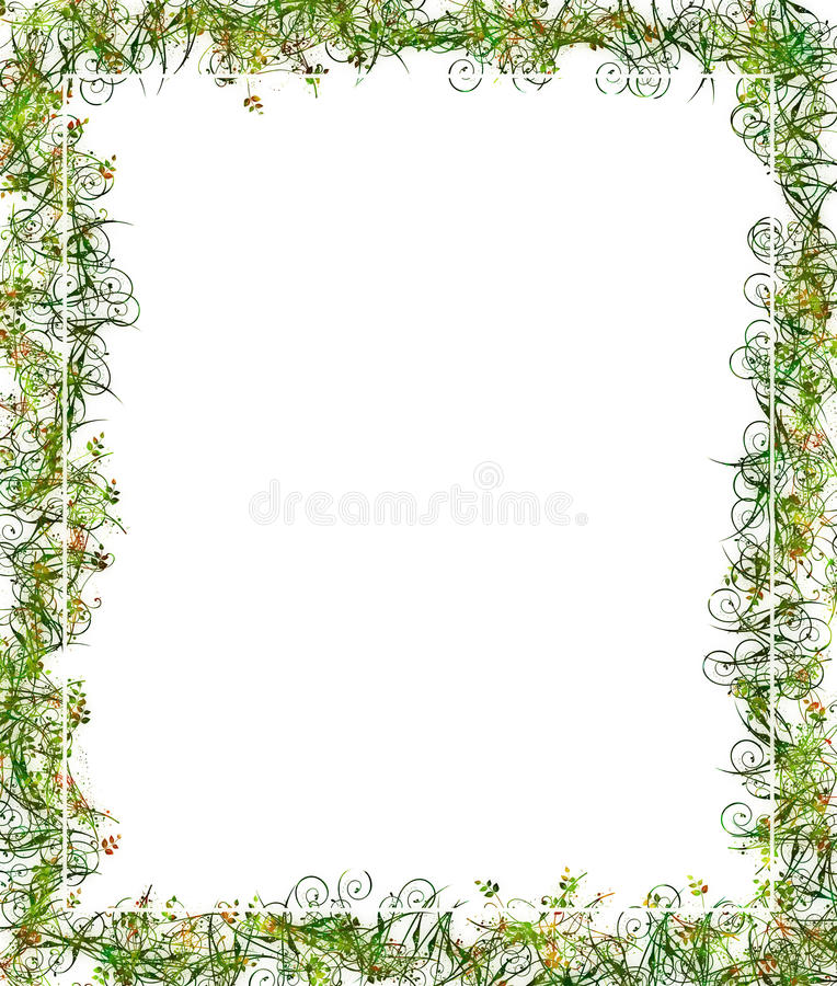 Download Green Floral Frame Or Border Stock Illustration - Image: 20563493