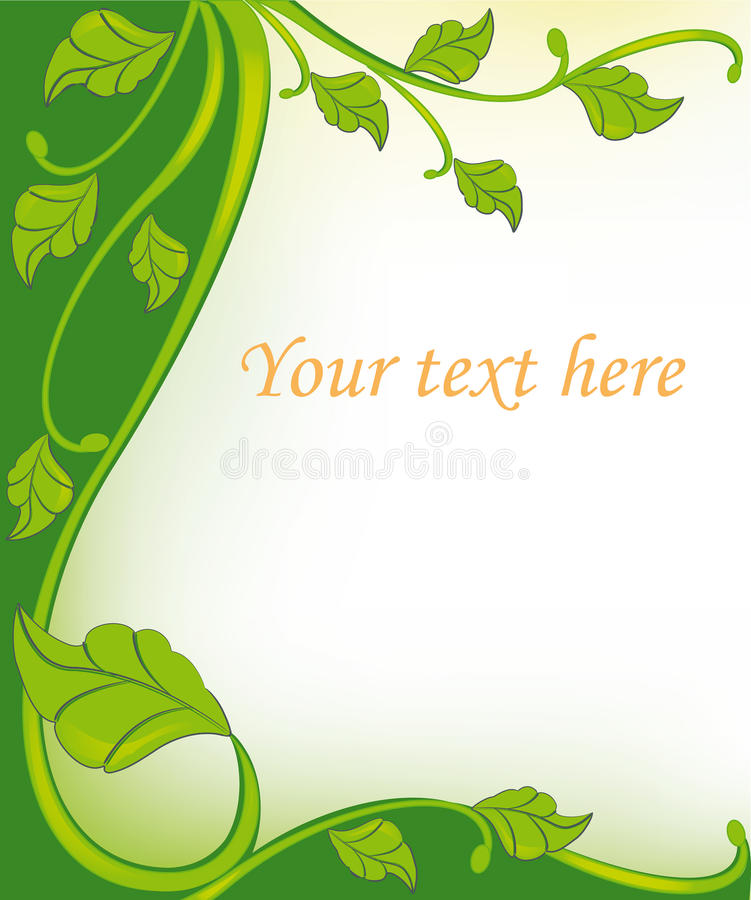Green Floral Frame Elements Royalty Free Stock Images