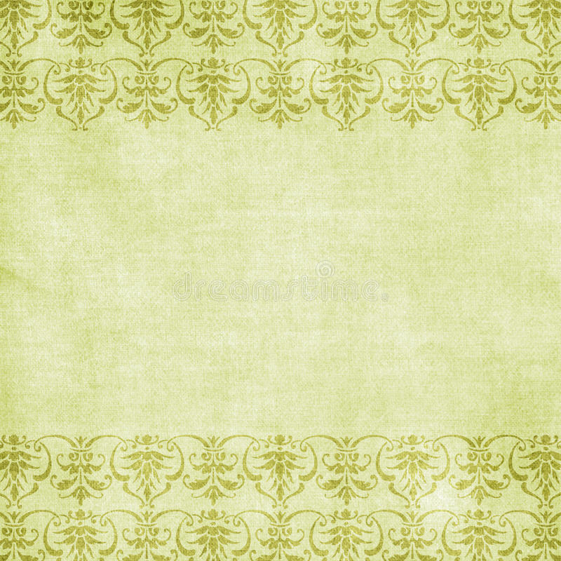 Green floral love background scrapbook paper