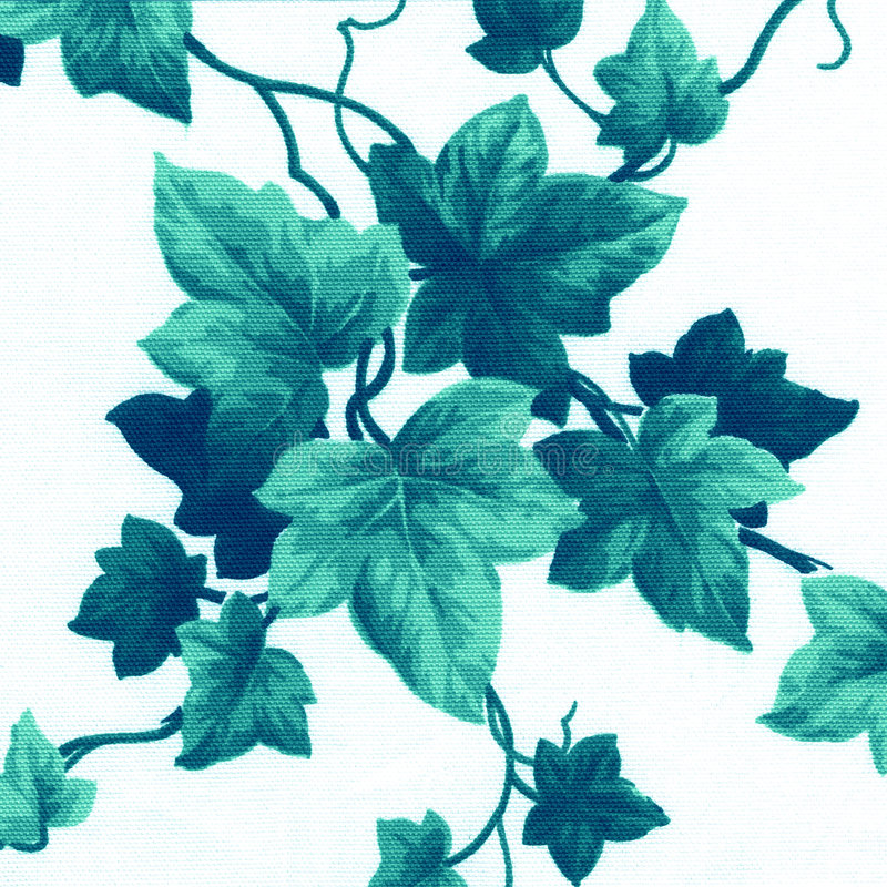 Green Floral Pattern Stock Photography