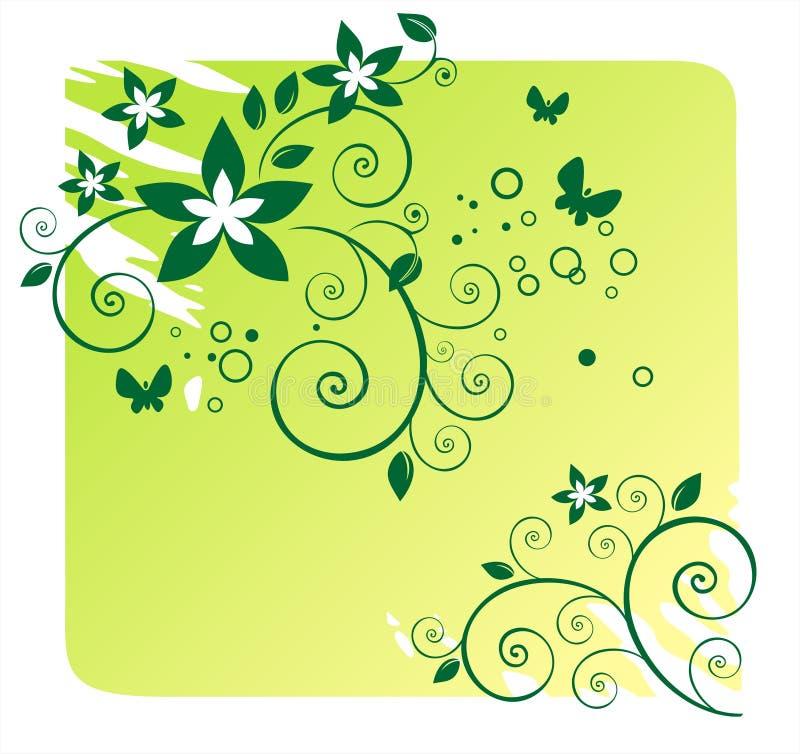 Green floral pattern royalty free illustration