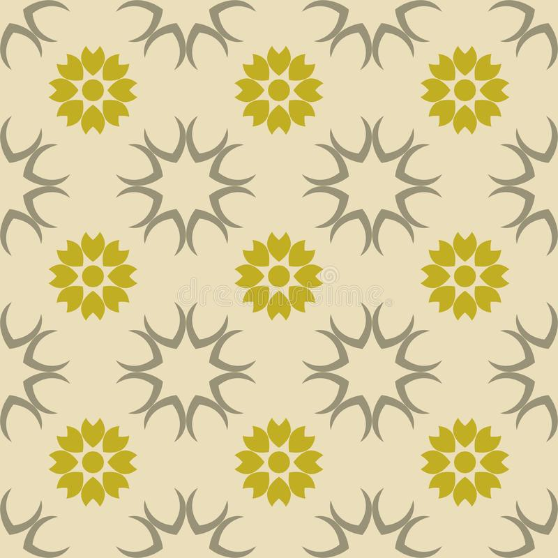 Green floral seamless pattern vector- fabric,interior designs and wallpapers stock illustration