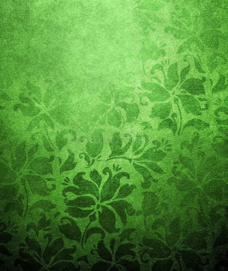 Green floral wallpaper royalty free illustration