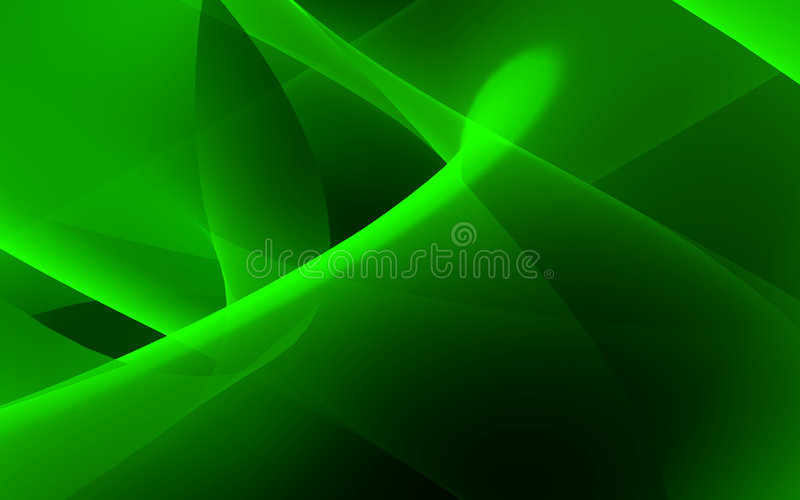 Green flow. Computer generated illustration of green flow vector illustration