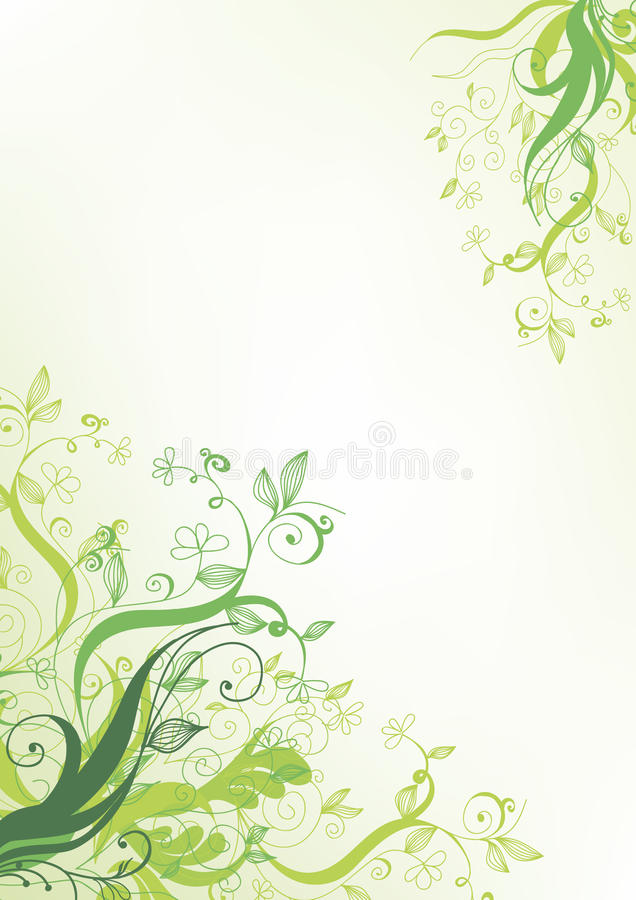 Green flower. Natural abstract background stock illustration