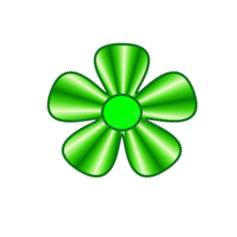 Download Green flower stock illustration. Illustration of happy - 5255607