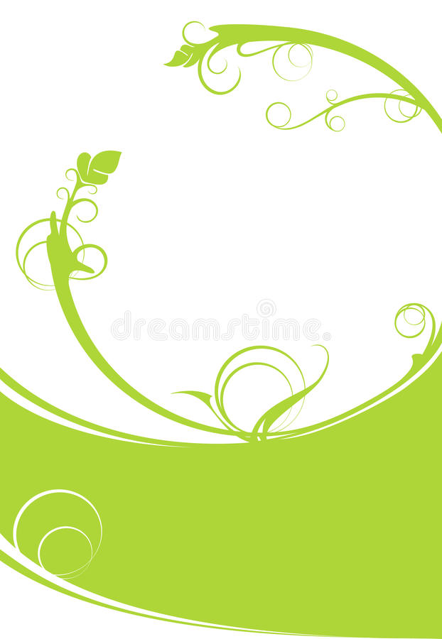 Green flower background vector illustration