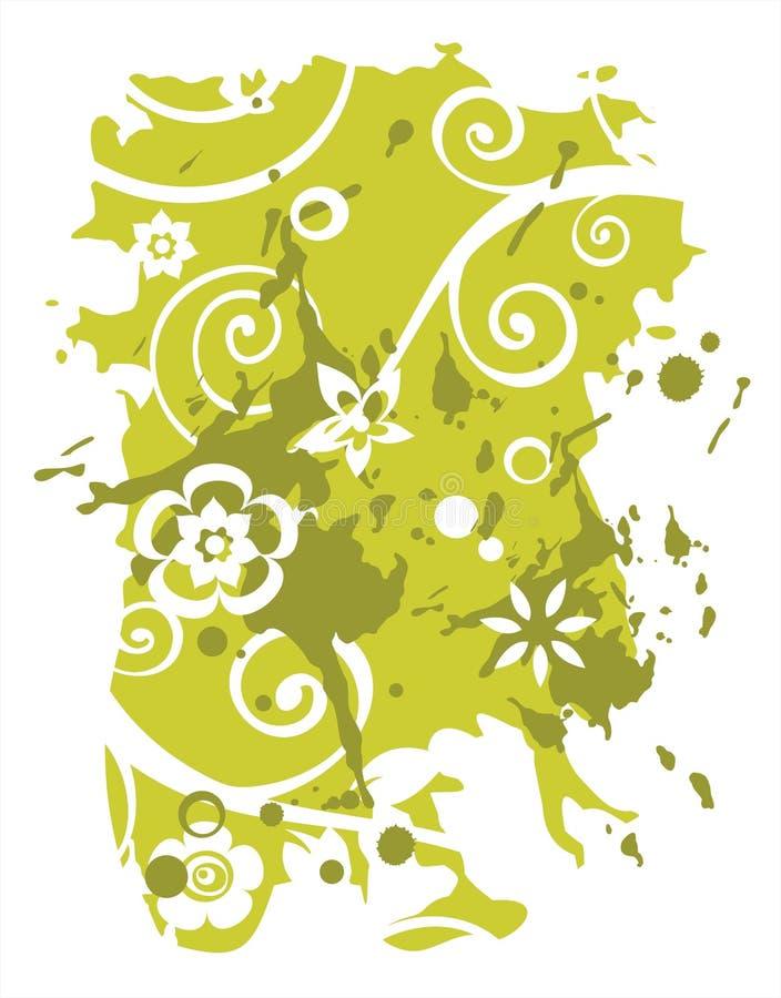 Green flower background stock illustration
