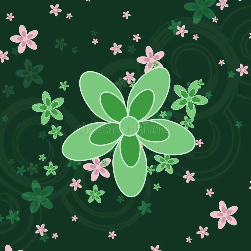 Free Green Flower Background Royalty Free Stock Image - 4826206