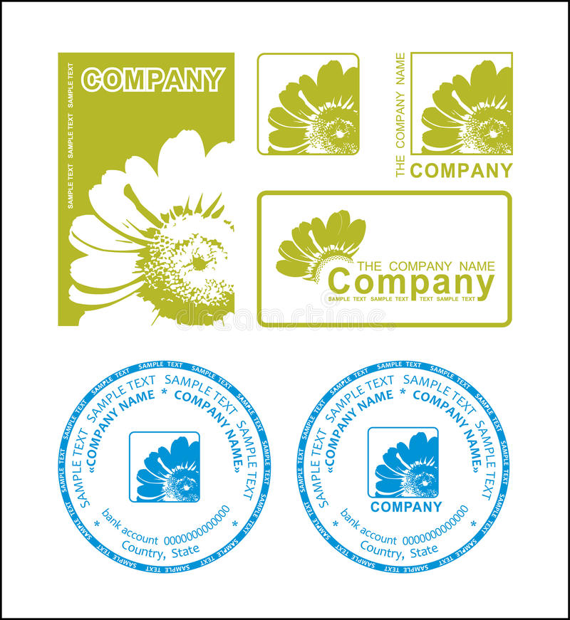 Green flower logo. Vector illustration vector illustration