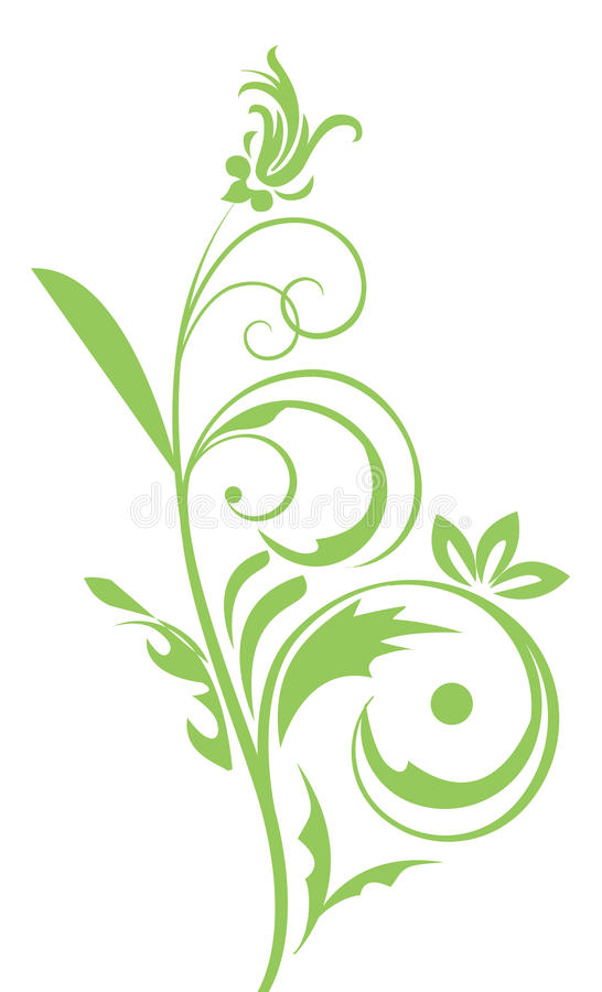 Green flower pattern royalty free illustration