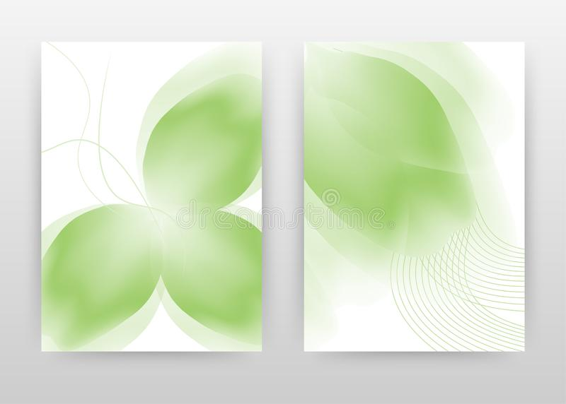 Green flower petal design for annual report, brochure, flyer, poster. Green flower petal on white background vector illustration. For flyer, leaflet, poster royalty free illustration