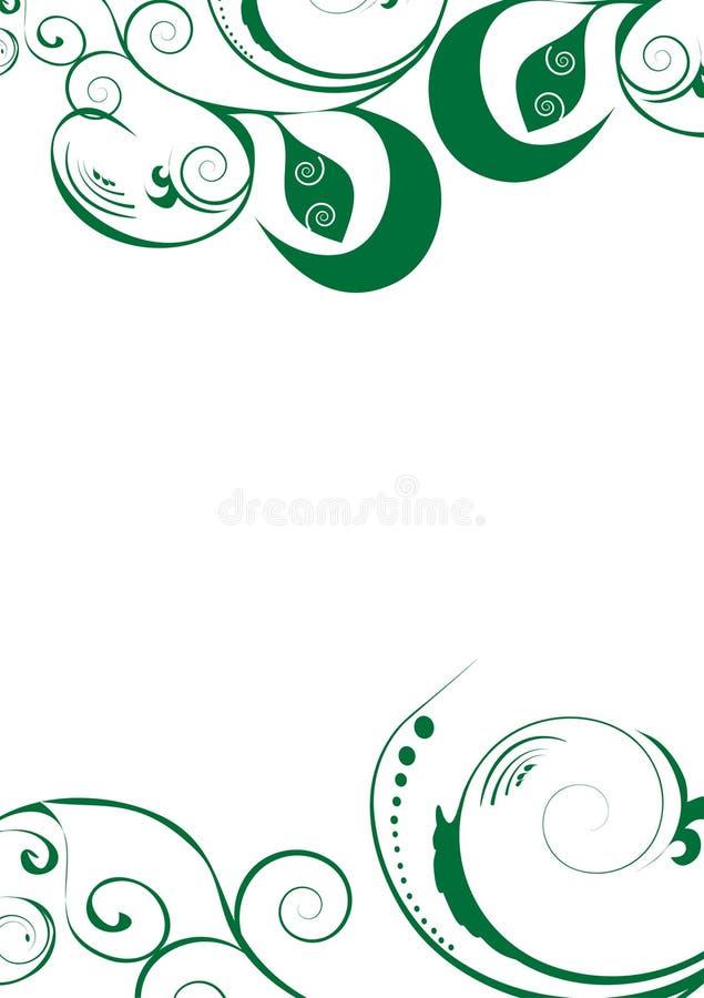 Download Green flowers decoration stock vector. Illustration of swirl - 13206025