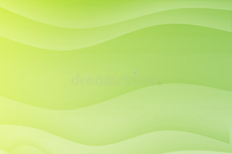 Green Flowing Soothing Waves royalty free illustration
