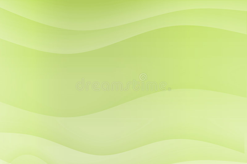 Green Flowing Soothing Waves vector illustration