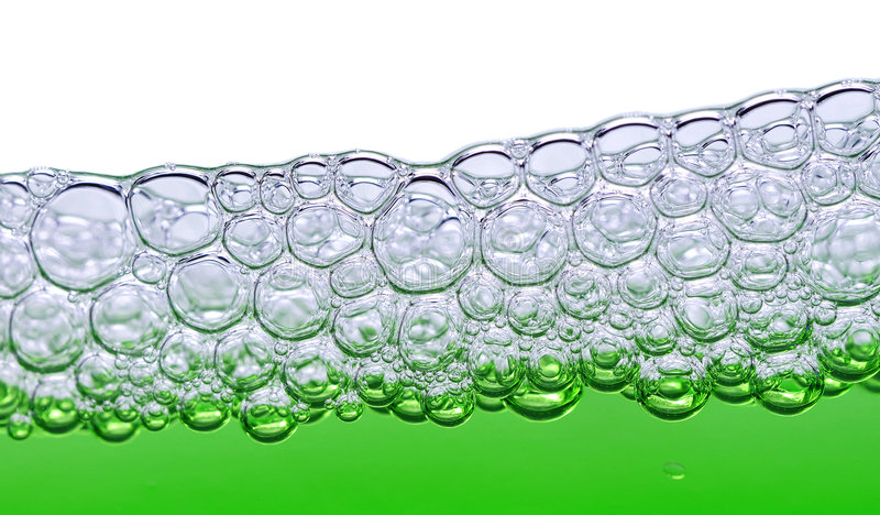 Green foam royalty free stock photography
