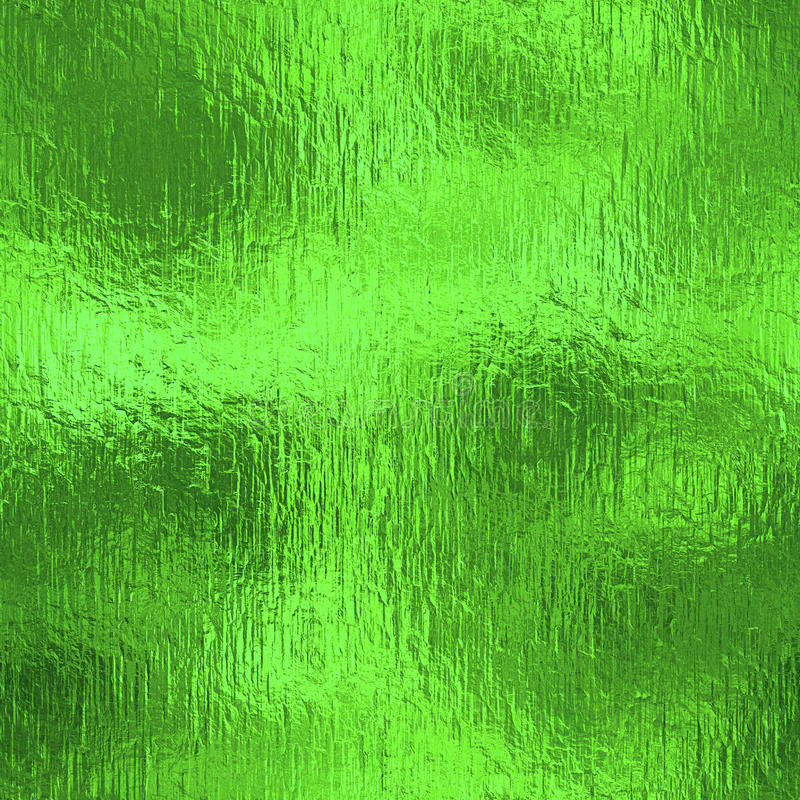 Green Foil Seamless Texture. stock image