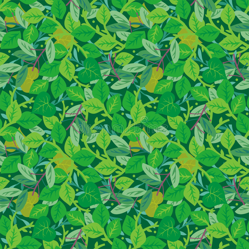 Green Foliage Seamless Repeat Pattern Stock Vector - Image ...