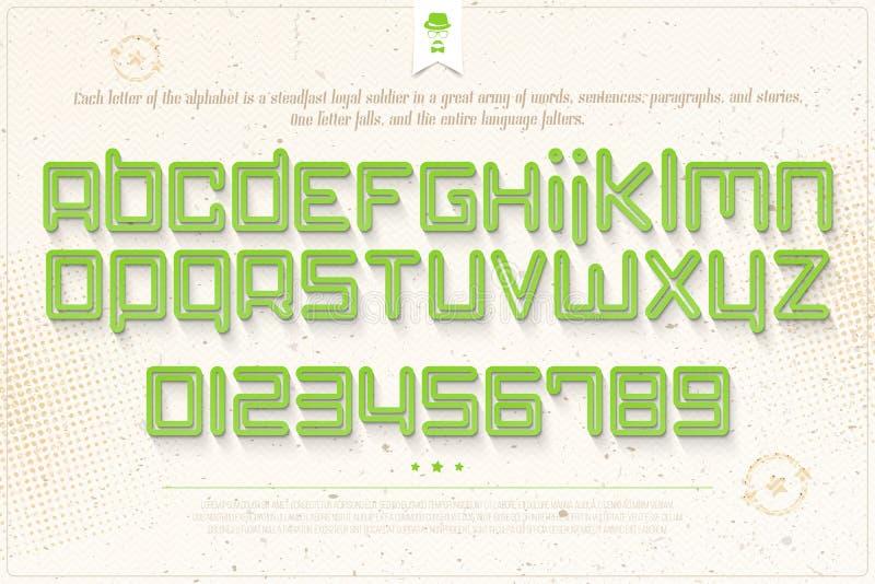 Green font stock illustration