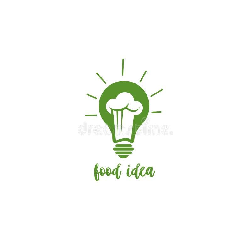 Green food idea vector illustration. royalty free illustration