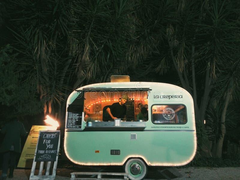 Green Food Truck stock image