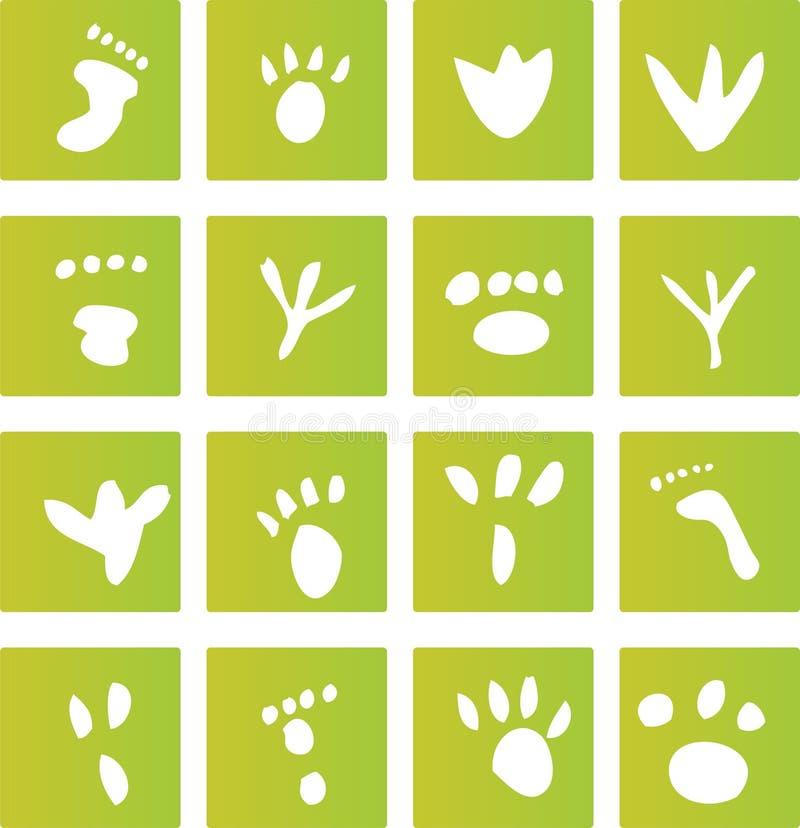 Free Green Foot Print Icons Royalty Free Stock Photos - 6032238