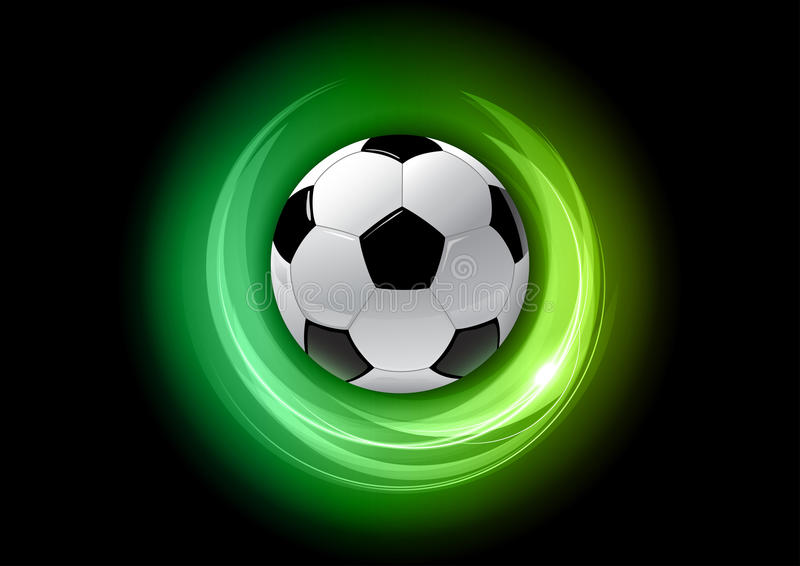 Download Green football stock vector. Image of graphic, color - 24652801