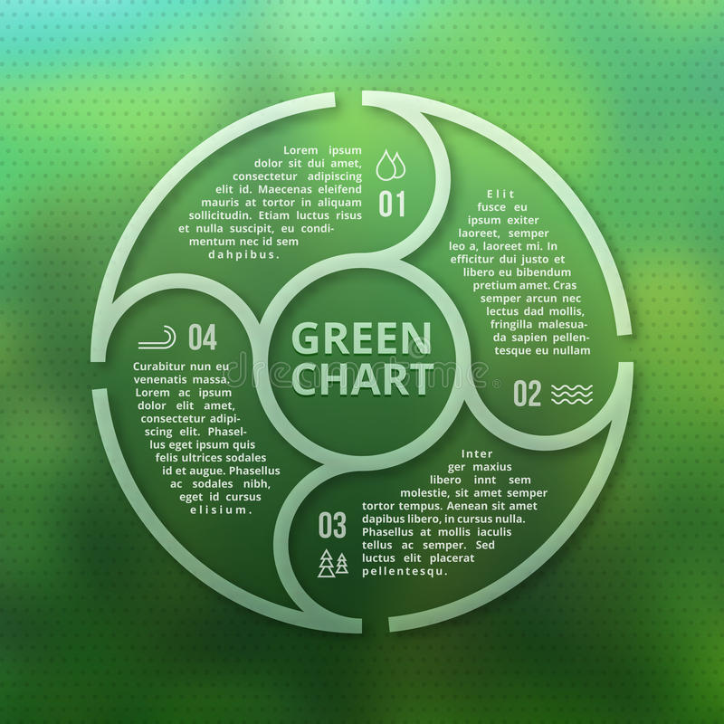 Free Green Forest Eco Infographic On Unfocused Blurred Smooth Creative Background Stock Images - 76548384