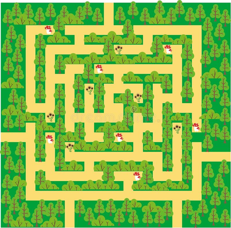 Free Green Forest Maze Stock Photography - 18160932